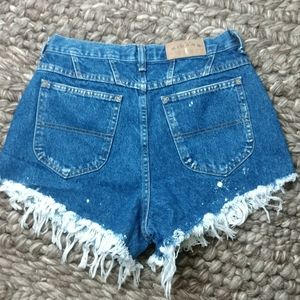 Vintage Riders high rise mom style jean shorts
